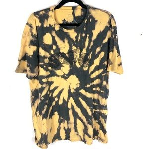 Graphic biker tie dye t shirt W15